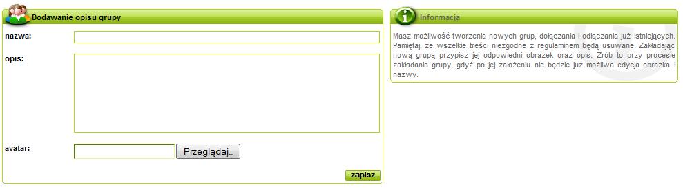 Obraz dołączony do pytania Jak dodać avatar grupy na spryciarze.pl?