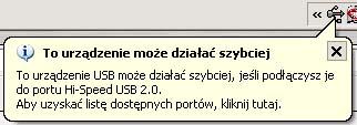 Obraz dołączony do pytania  pokazuje mi się komunikat że znaleziono nowy sprzęt  może działać szybciej  .....(chodzi o USB) a ja nic nie podłaczam czemu tak się robi?