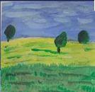 Obraz dołączony do pytania Jak namalować trawę farbami akrylowymi lub olejnymi ?