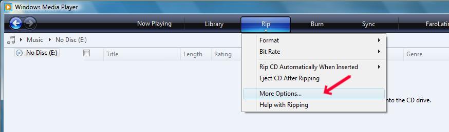 Obraz dołączony do pytania Jak skopiować muzykę z płyty CD na komputer i zamienić na MP3 ?