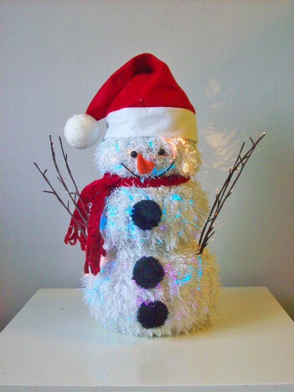 Stroik świąteczny bałwanek