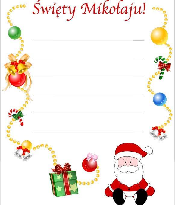 Jak napisać list do św. Mikołaja