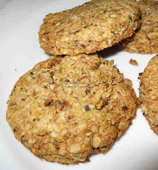 Ciasteczka owsiane , lub Kokosowe